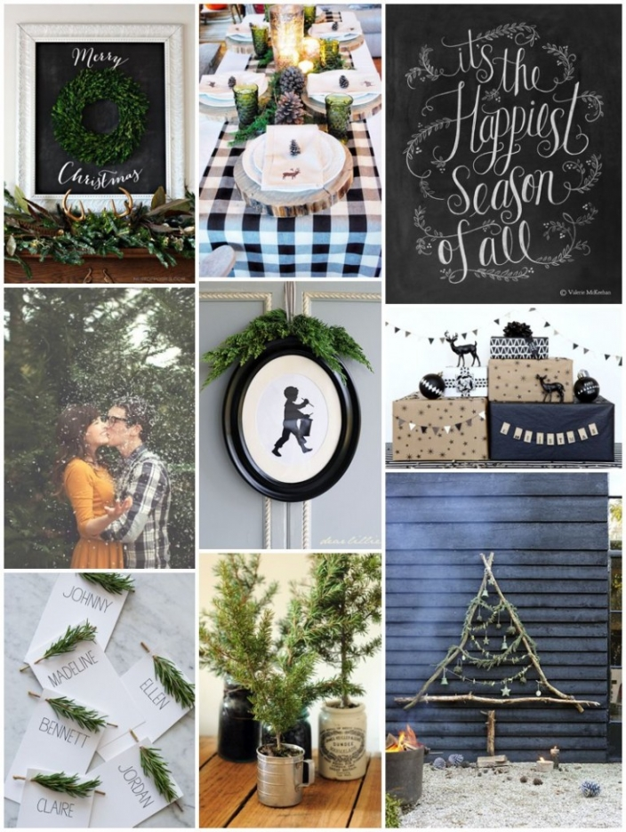 black white green christmas style by design