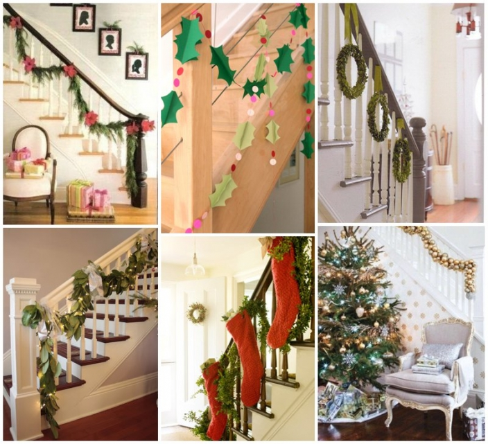 christmas railing garland