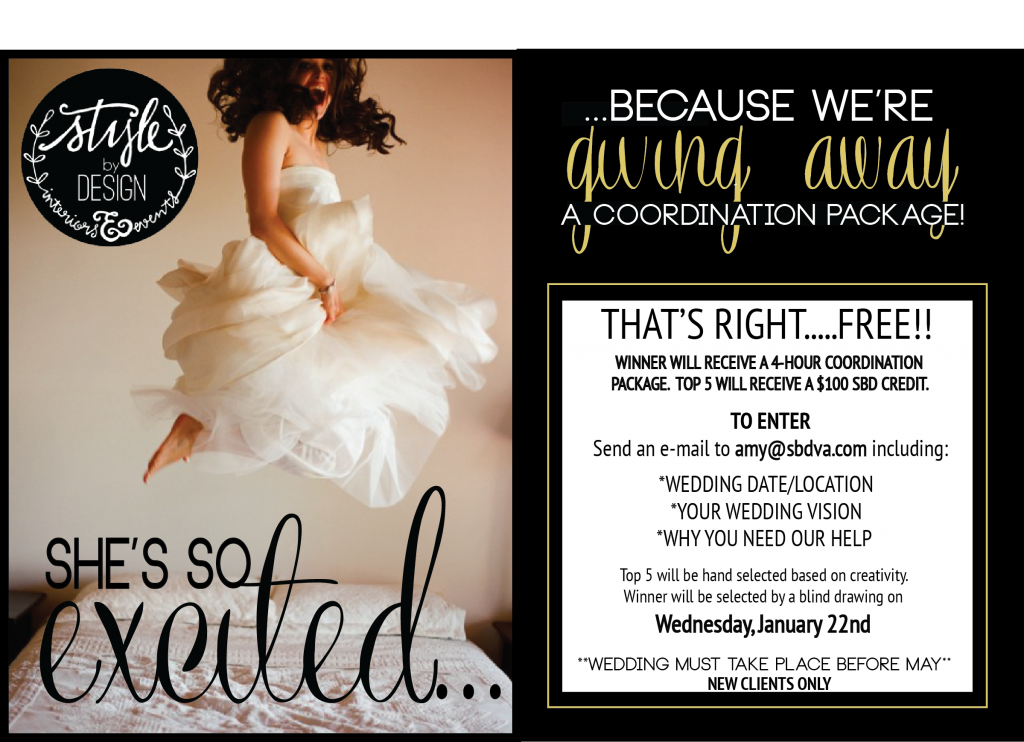 stylebydesign giveaway free wedding coordination